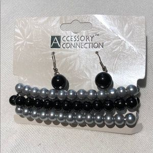 Accessory Connection  Earrings and Bracelet Set.